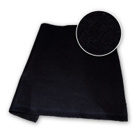 Black Polyester Stage Felt 210gsm DFR 126in / 320cm